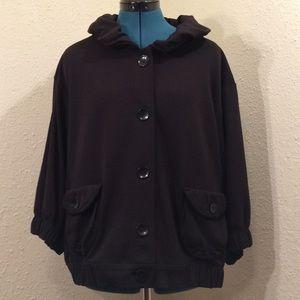 Fever XL black button up jacket (190)